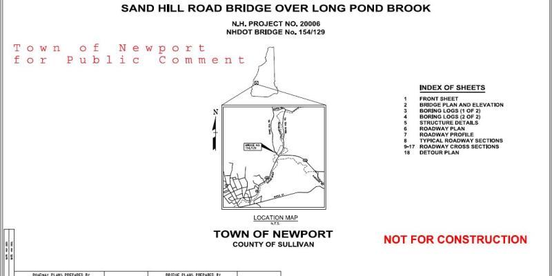 Sand Hill Bridge Preliminary Plans